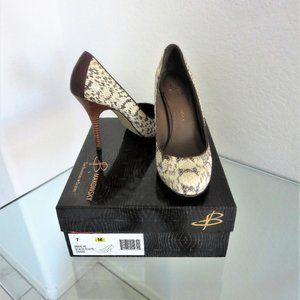 B Makowsky NEVE Snakeskin High Heel Shoes